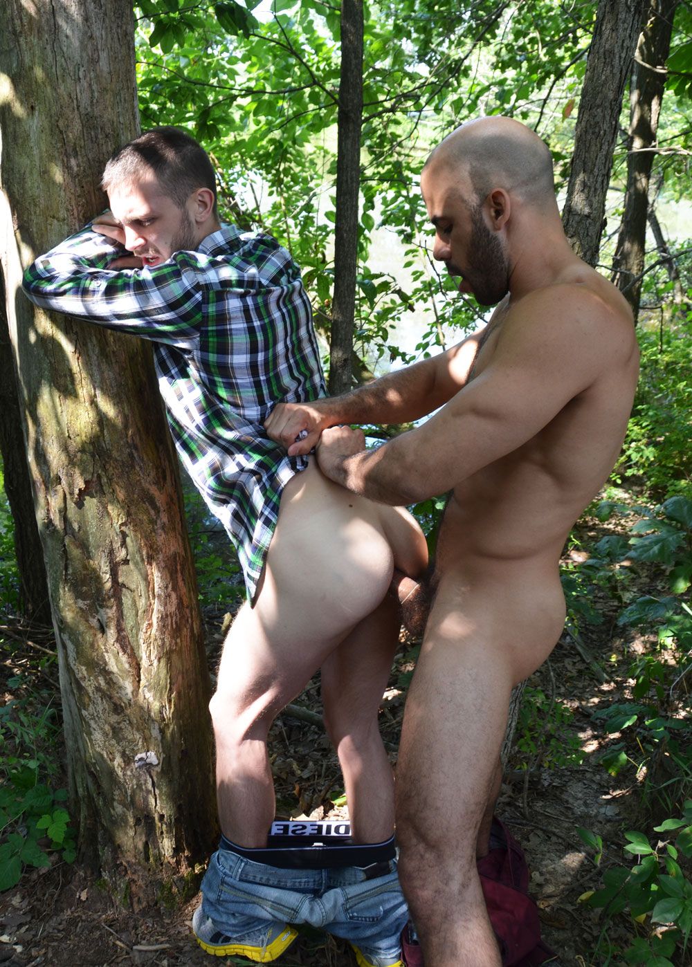 Tied And Fucked In The Woods